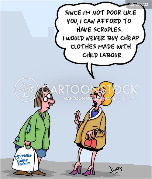 textile industry cartoon