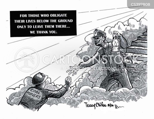 coal miners cartoon