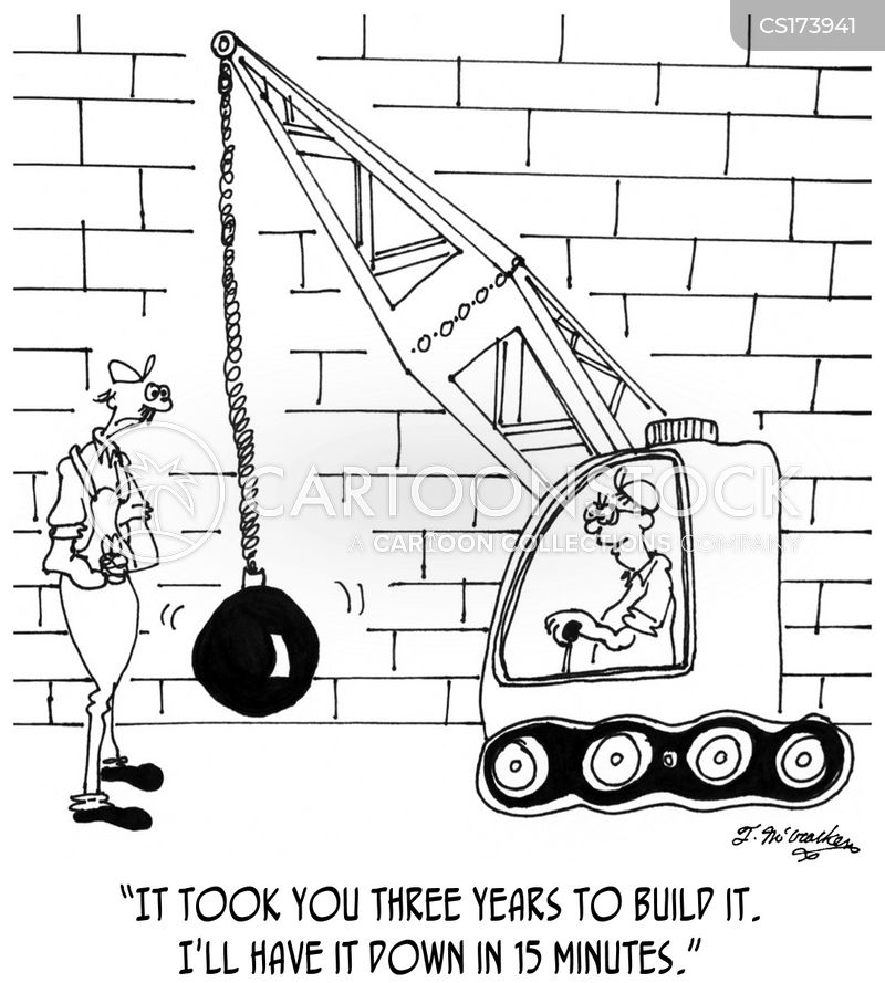 new build cartoon