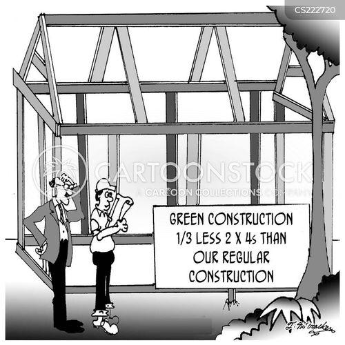 green construction cartoon