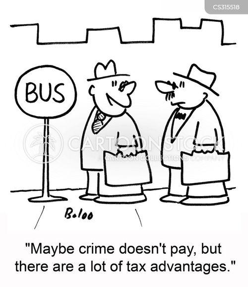 tax advantages cartoon