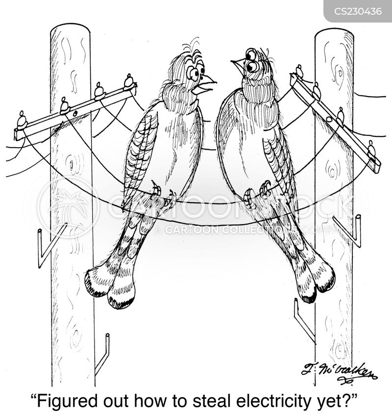 utility pole cartoon