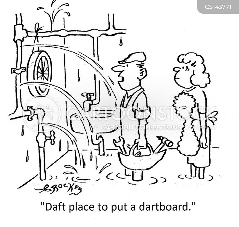 darts board cartoon