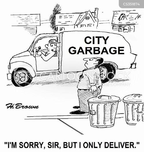 rubbish trucks cartoon