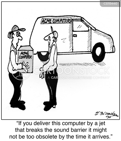 computer service cartoon