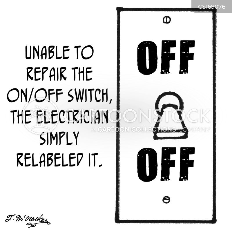 light switch cartoons and comics