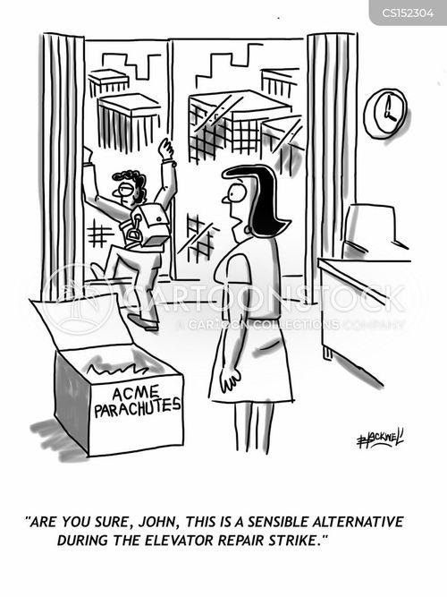 industrial actions cartoon