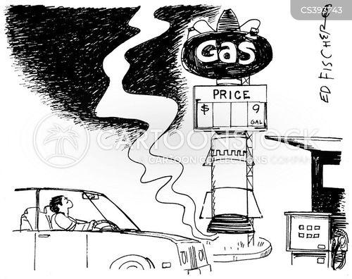 cheap gas cartoon