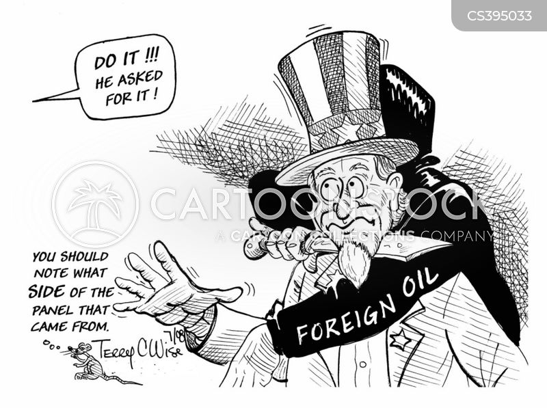 foreign oil cartoon