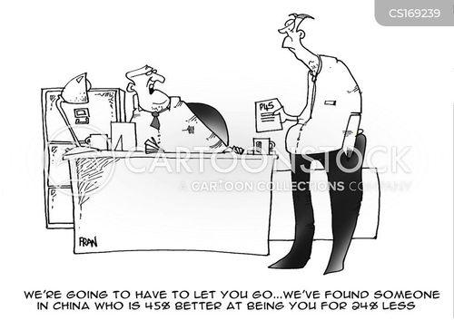 outsource cartoon