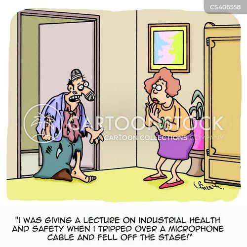 trip hazards cartoon