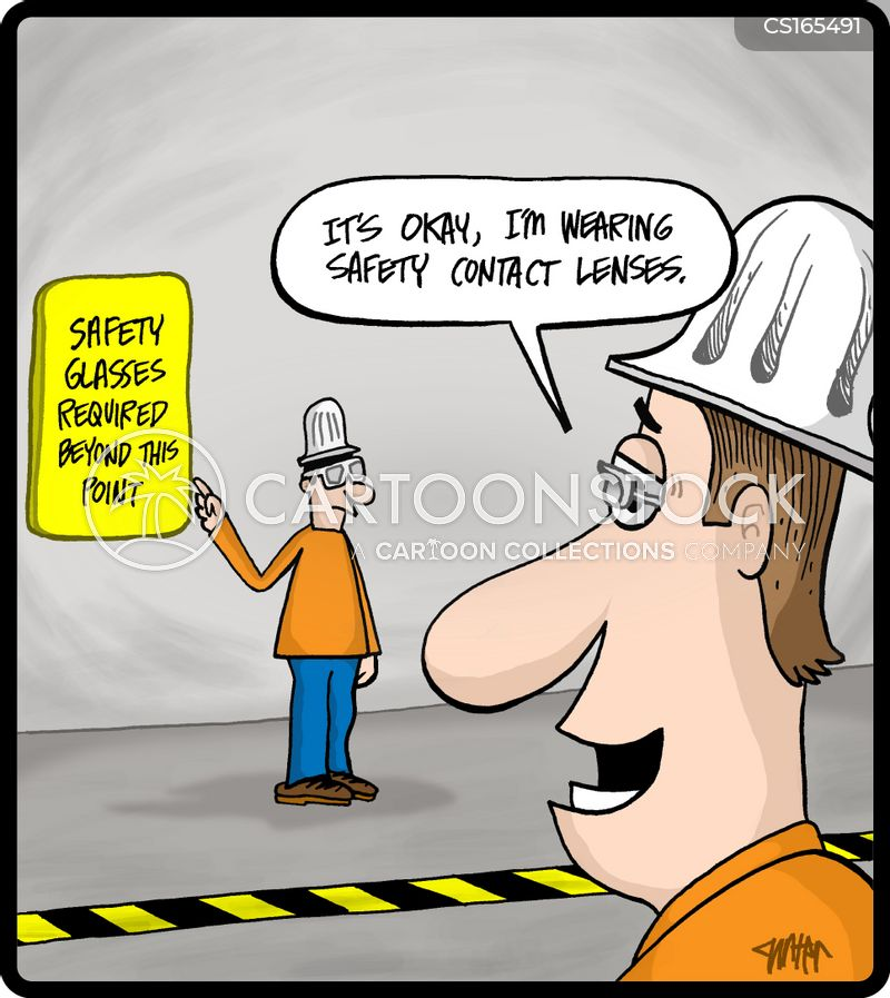 hard hat cartoon