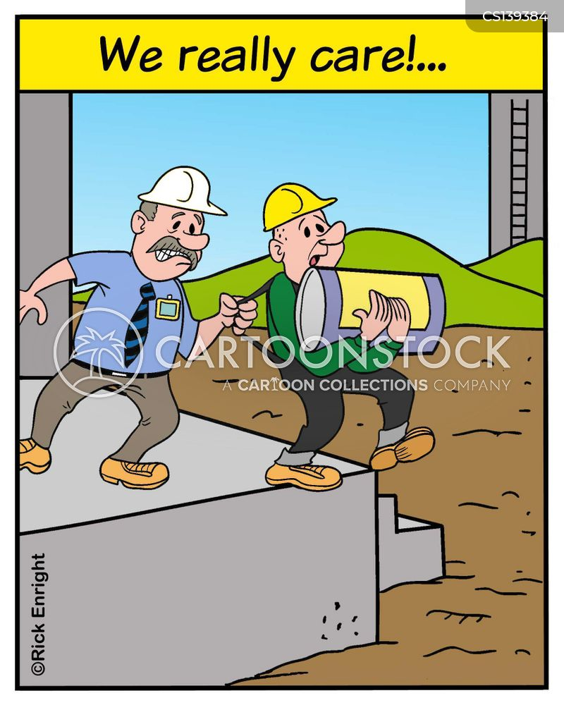 safety rules cartoon