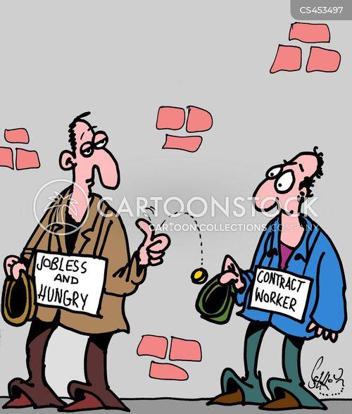 contract workers cartoon