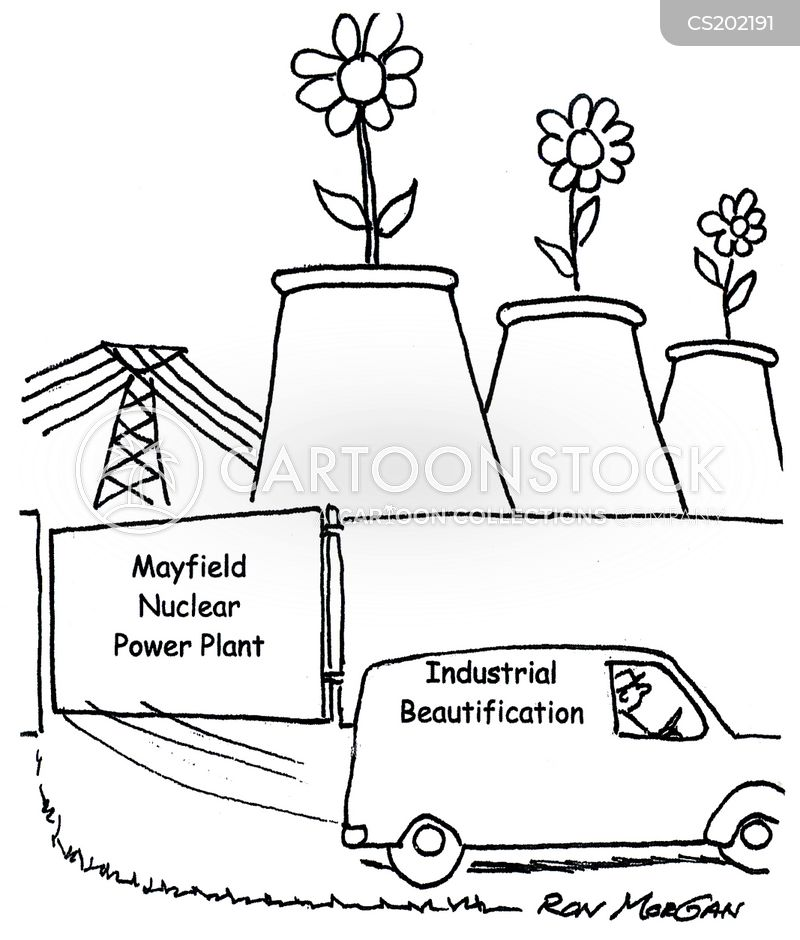 Power Plant Cartoon Nuclear Power Plant Cartoon 6