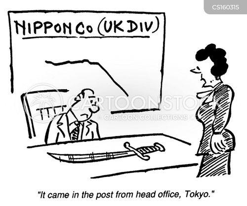 japanese business cartoon