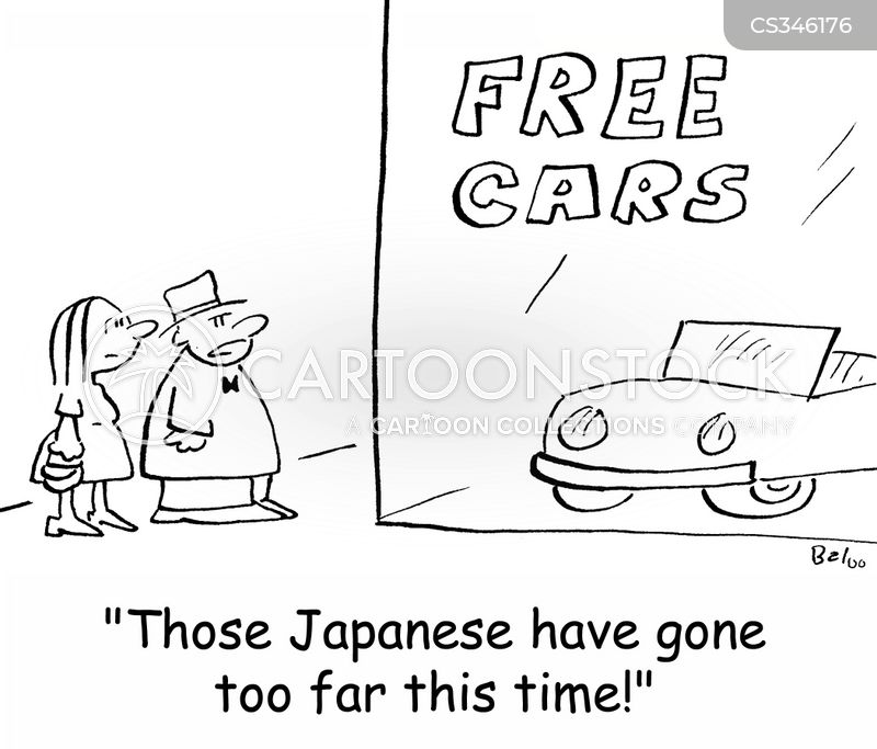 japanese cars cartoon