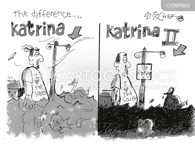 hurricane katrina cartoon