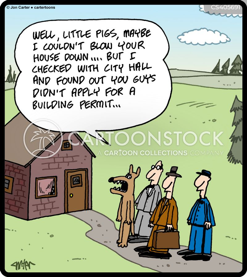 building permits cartoon