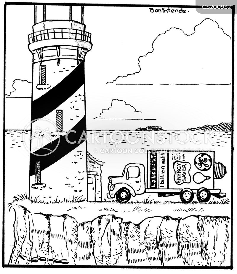 Light Houses Cartoons And Comics