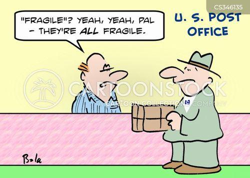 fragile goods cartoon