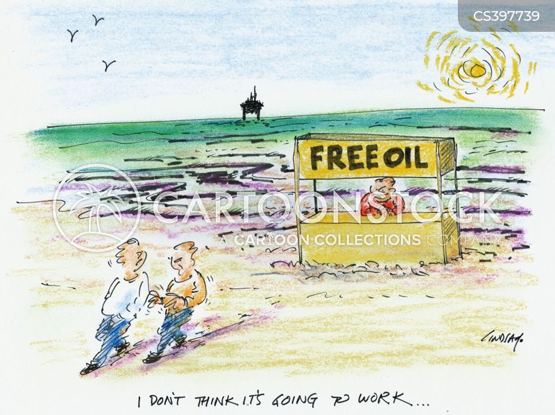 oil spillages cartoon