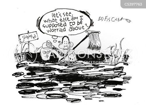 swamped cartoon