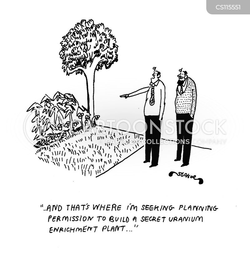uranium enrichment plant cartoon