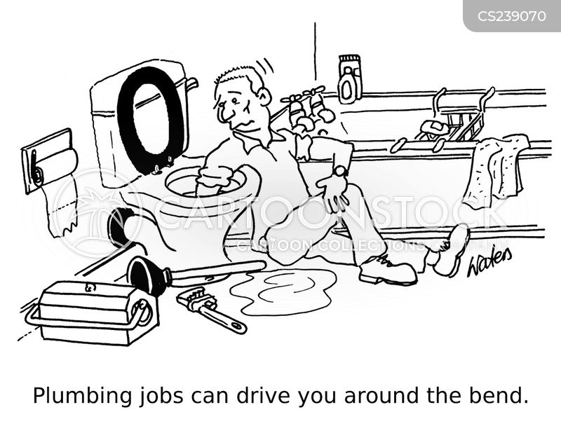 plumbing job cartoon