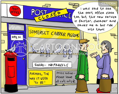 post office closure cartoon