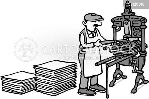 letterpress cartoon
