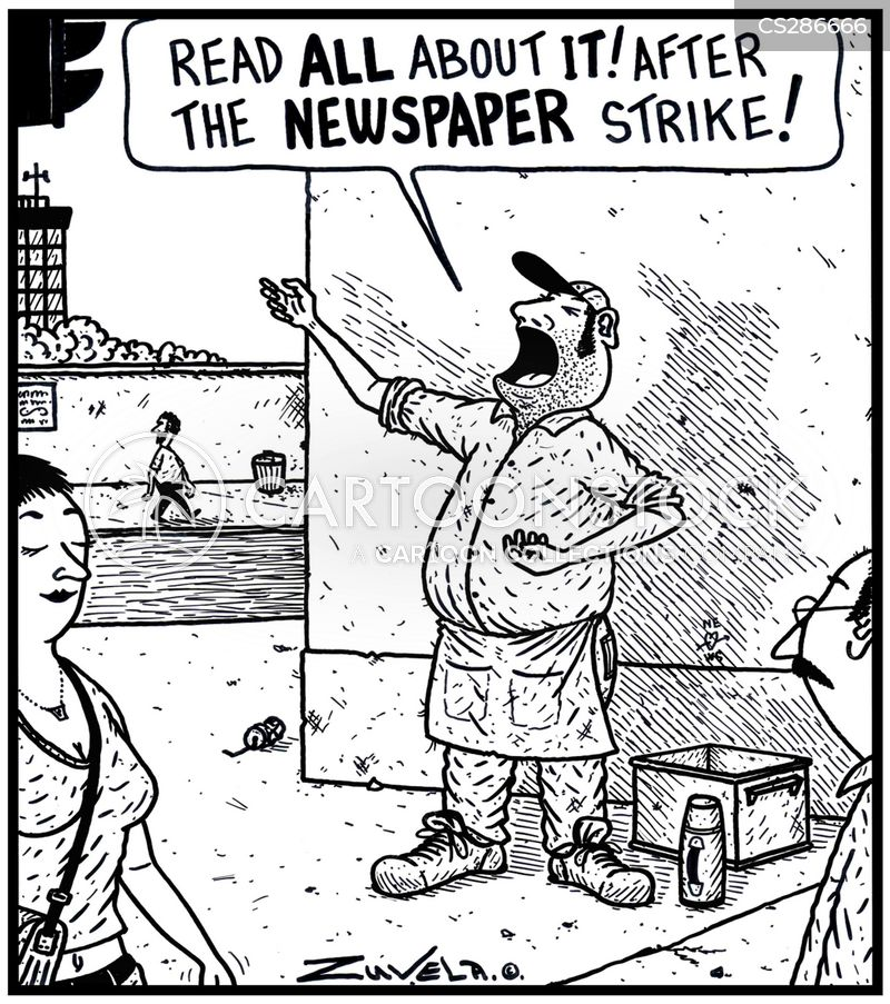 newspaper vendors cartoon