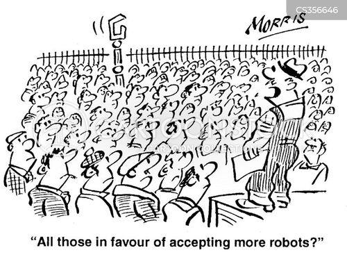 robot workers cartoon