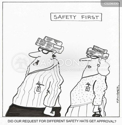 safety helmet cartoon