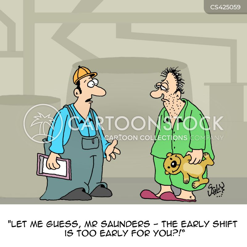 shift work cartoon