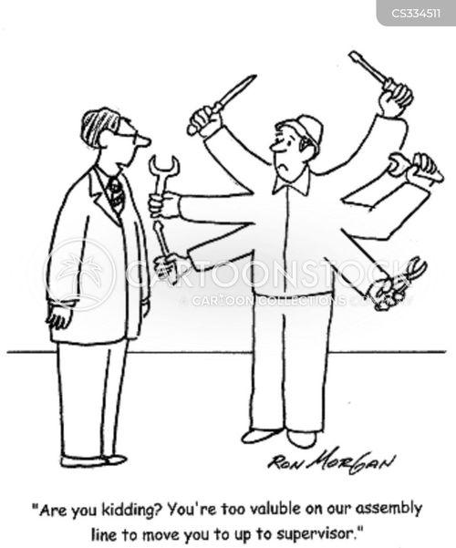 industrial worker cartoon
