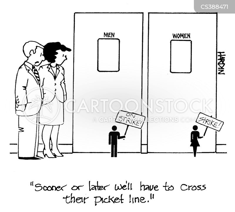 restroom signs cartoon