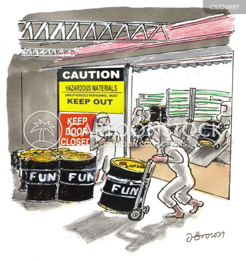 toxic material cartoon