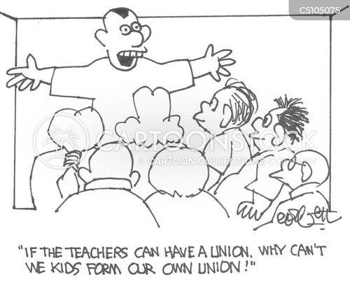 teachers union cartoon