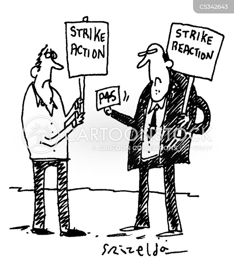 strike reaction cartoon