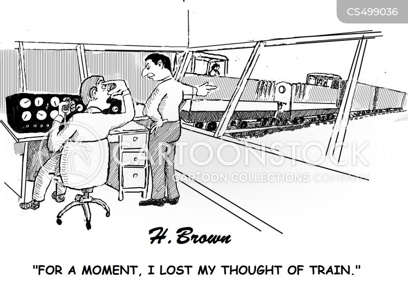 train of thought cartoon
