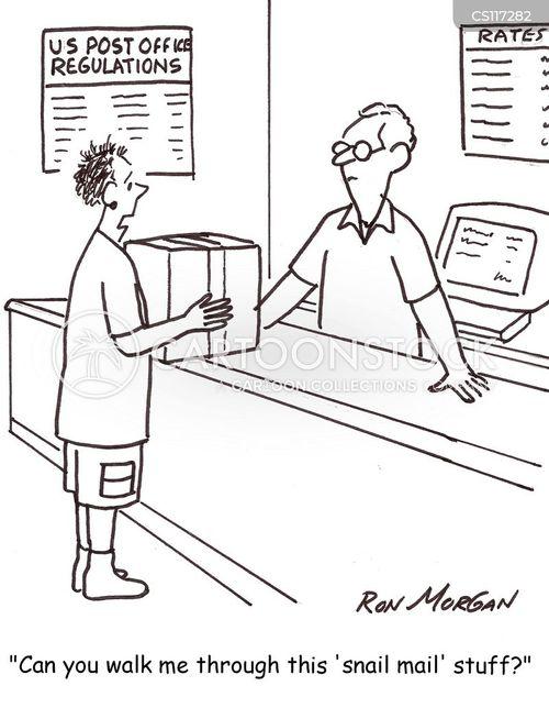 mail rooms cartoon