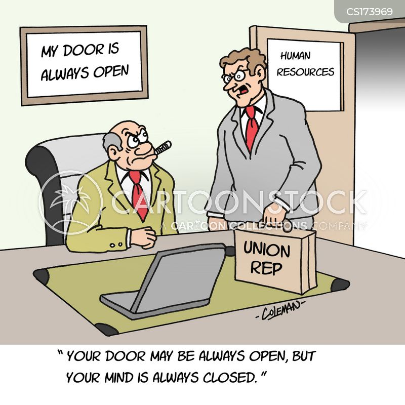 union representatives cartoon