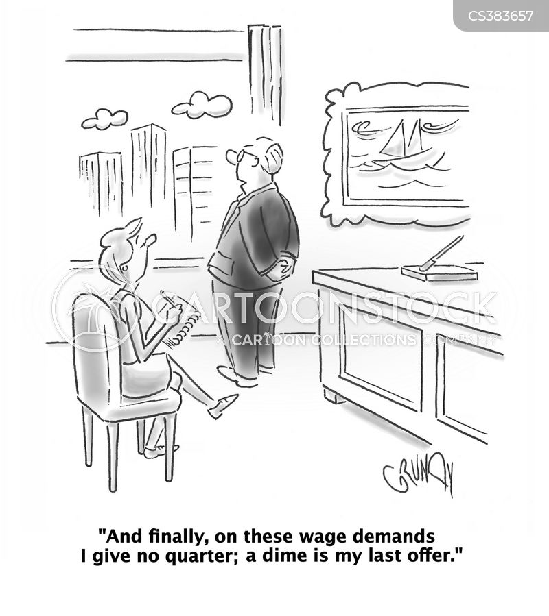wage negotiations cartoon