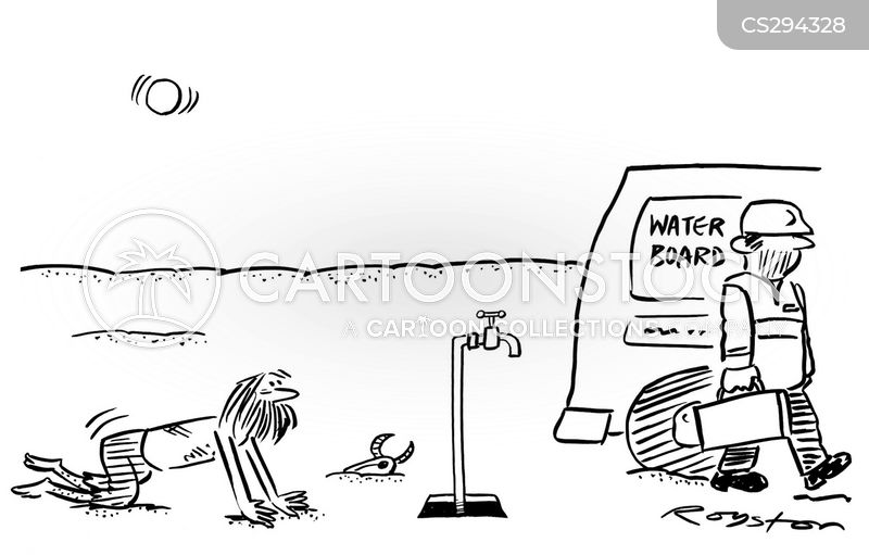 water shortages cartoon