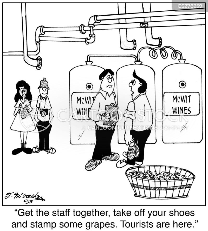 factory tours cartoon