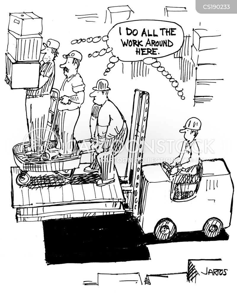 manual labor cartoon