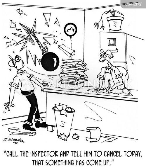 building inspector cartoon