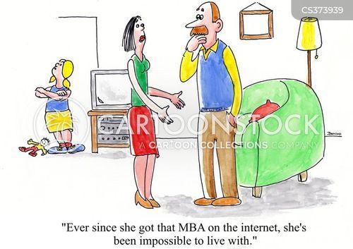 online degree cartoon