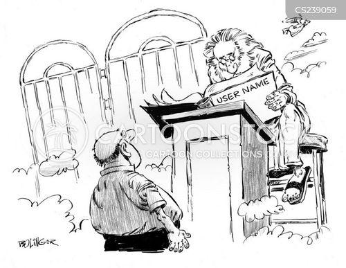 user name cartoon